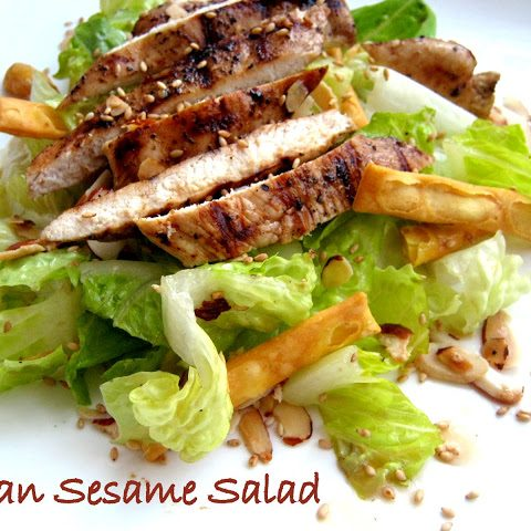 Asian Sesame Salad with Grilled Chicken - Alica's Pepperpot