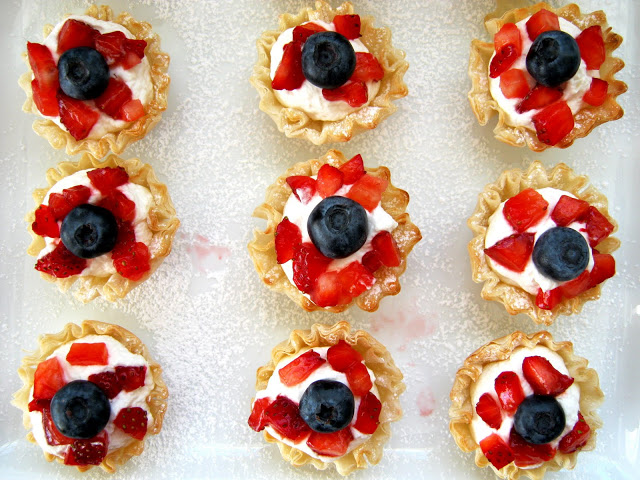Superbowl Party: Phyllo Fruit Cups with Homemade Whipped ...