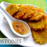 Tostones with a Garlic Dipping Sauce