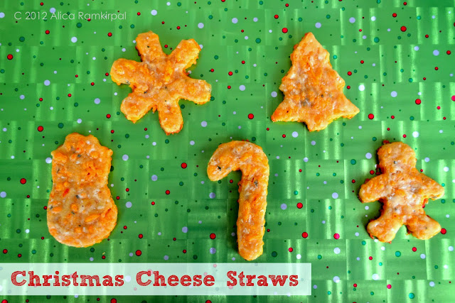 Cheese straws for Christmas