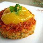 Caribbean fish cake with mango sour