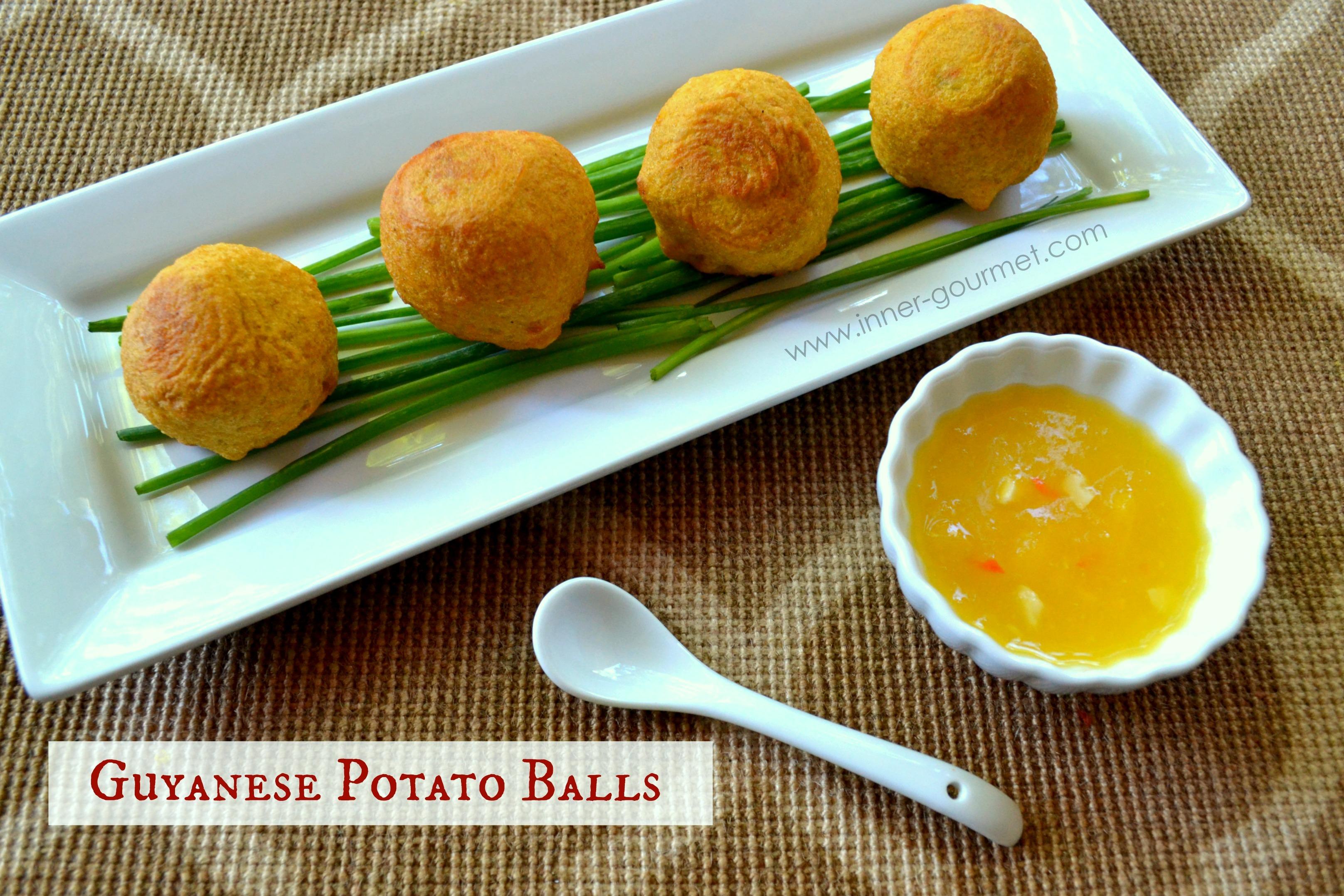 Guyanese Potato Balls, Guyanese appetizer, Guyanese food