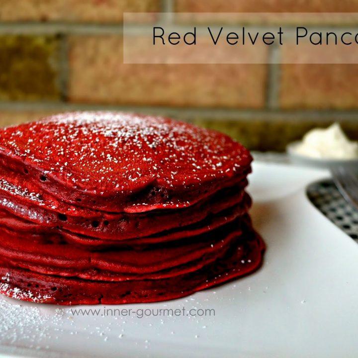 Red velvet pancakes -Alica's Pepperpot