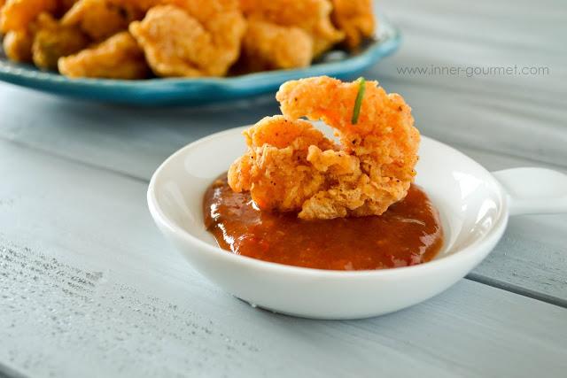 Fried Shrimp + Spicy Guava Sauce - Alica's Pepper Pot