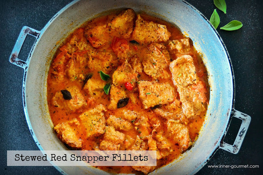 Stewed Red Snapper Fillets - Alica's Pepper Pot