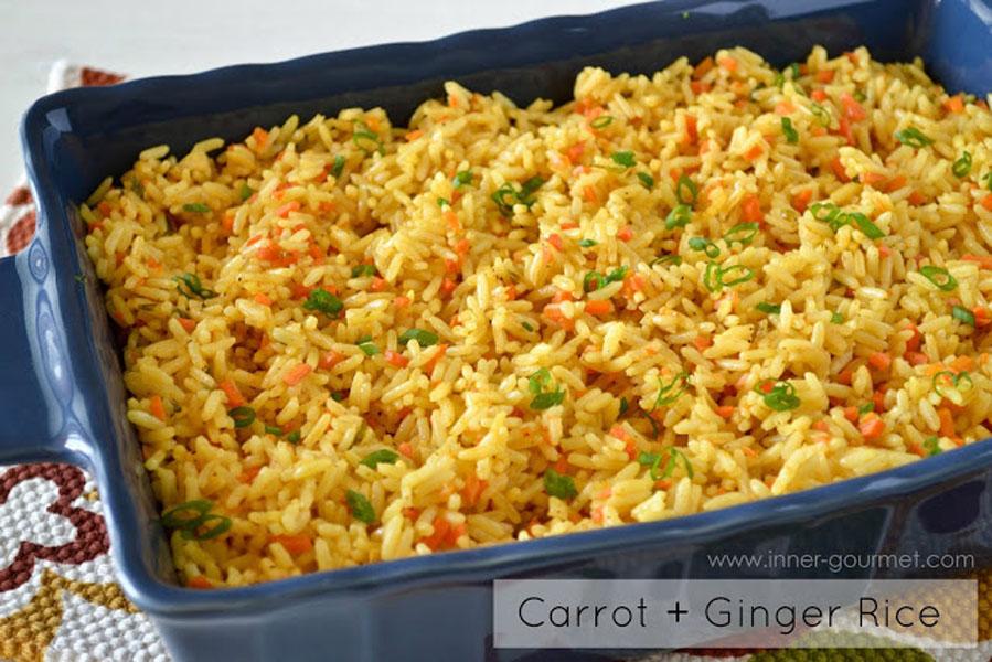 Side Dish: Carrot & Ginger Rice - Alica's Pepper Pot
