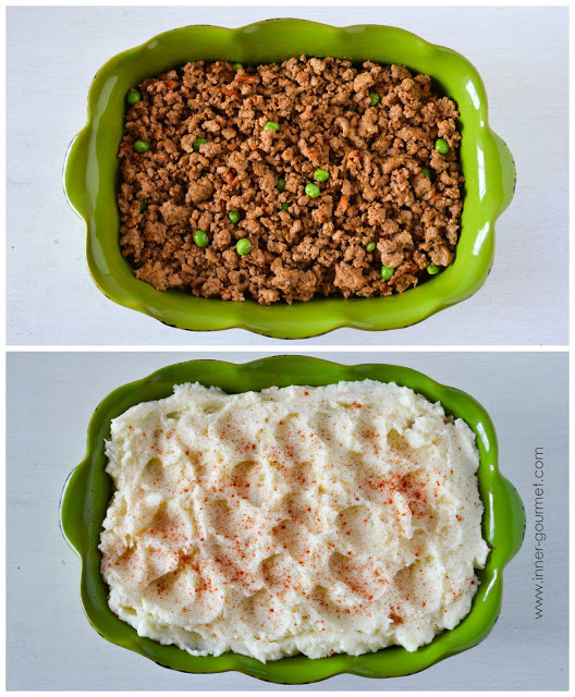 I used ground turkey in this version, but feel free to use any ground meat you like. Add any frozen mixed vegetables you have on hand.
