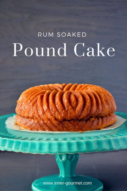Rum Soaked Pound Cake - Alica's Pepper Pot
