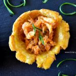 Fried Plantain Cups + Saltfish Filling