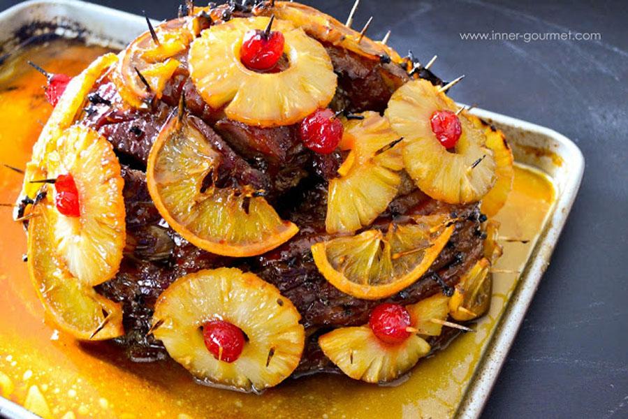 Pineapple-Orange Glazed Ham - Alica's Pepper Pot