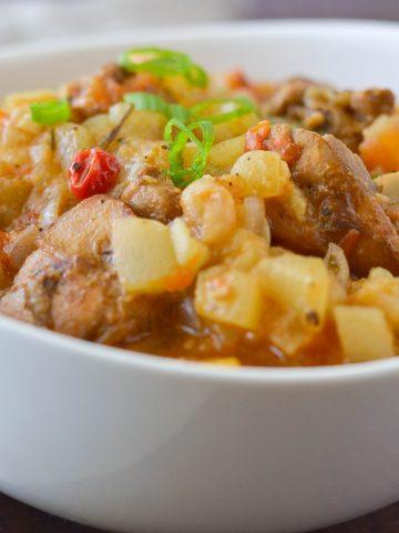 squash and chicken - alica's pepperpot