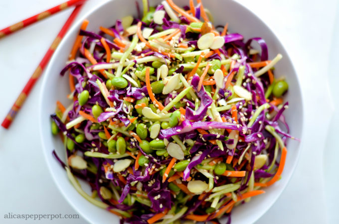 Asian Slaw with Ginger Dressing