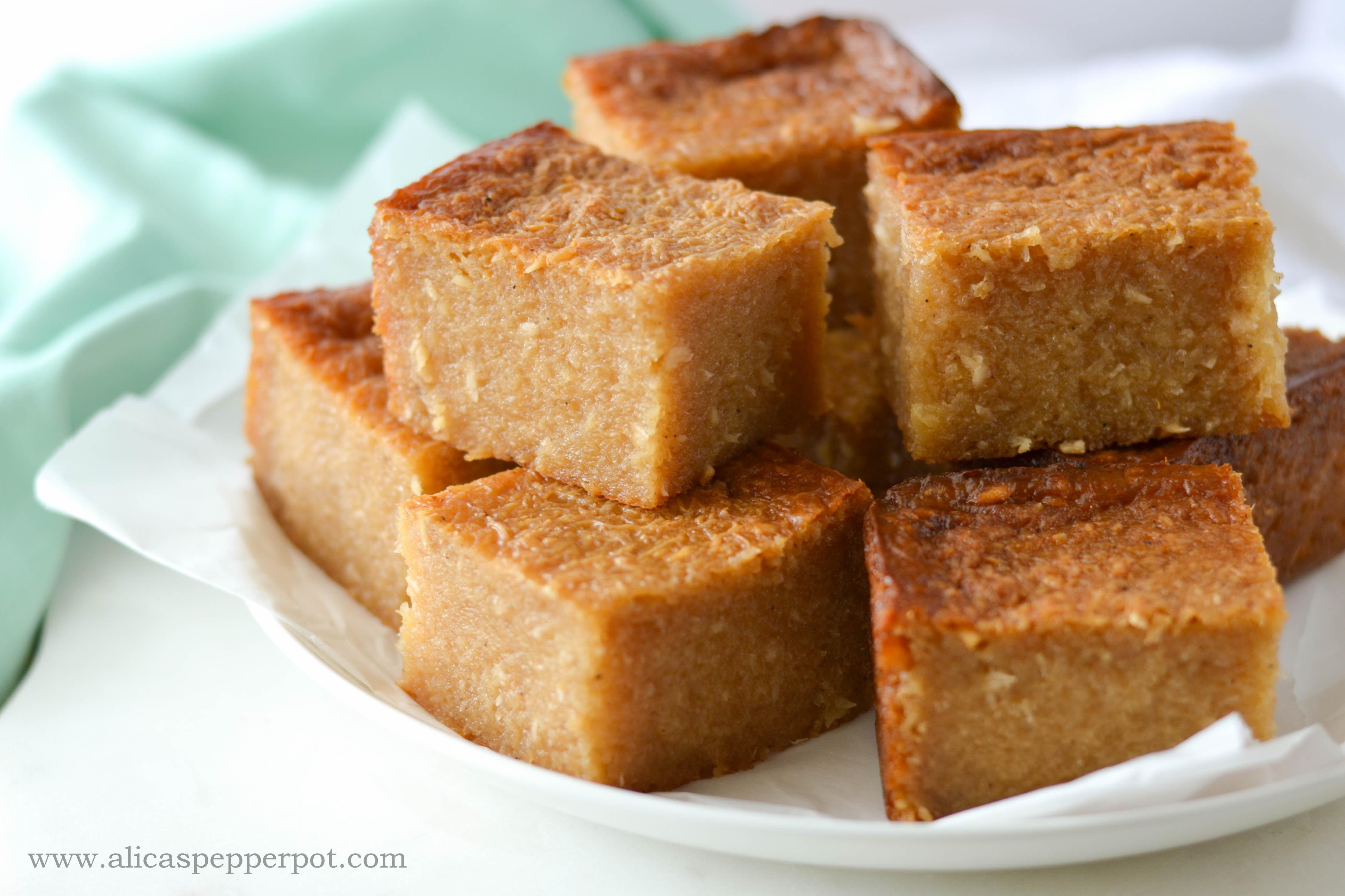 Cassava Pone Yuca Cake Alica S Pepperpot