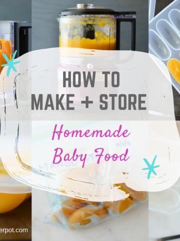 Make and Store homemade babyfood - alicaspepperpot.com