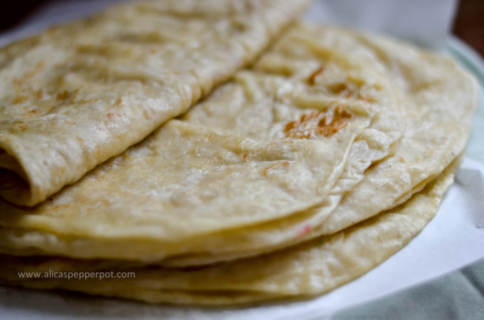 Aloo roti (potato stuffed flatbread)
