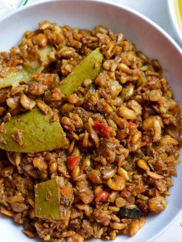 Bounjal shrimp curry - Alica's Pepperpot