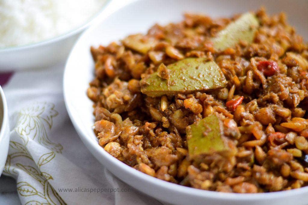 Bunjal shrimp curry - Alica's Pepperpot