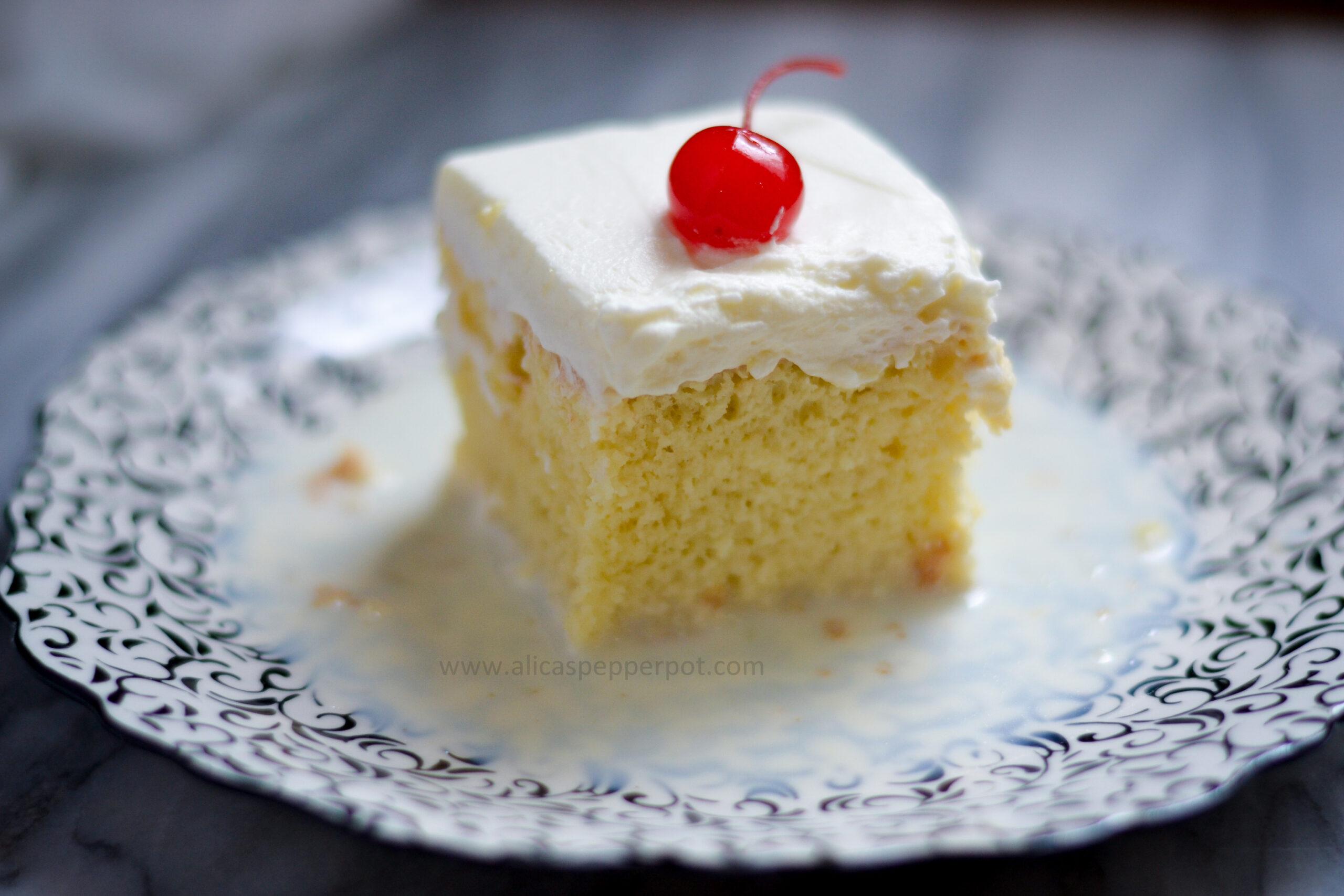 Tres Leches Cake - Alica's Pepperpot