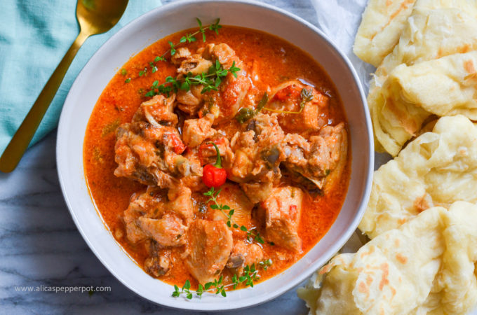 Red Stewed Chicken - Alica's Pepperpot