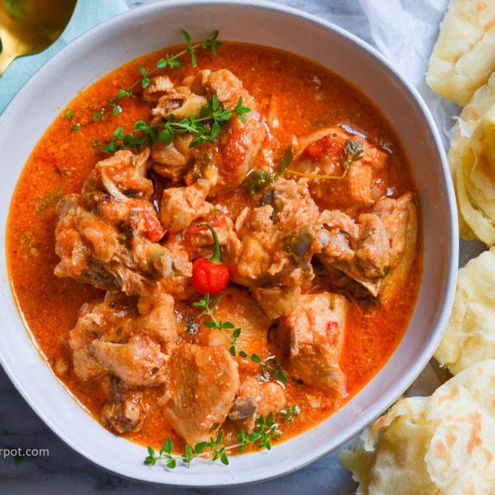 Red Stewed Chicken - Alica's Pepperpot
