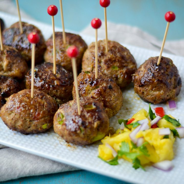 Jerk Chicken Meatballs - Alicas Pepperpot