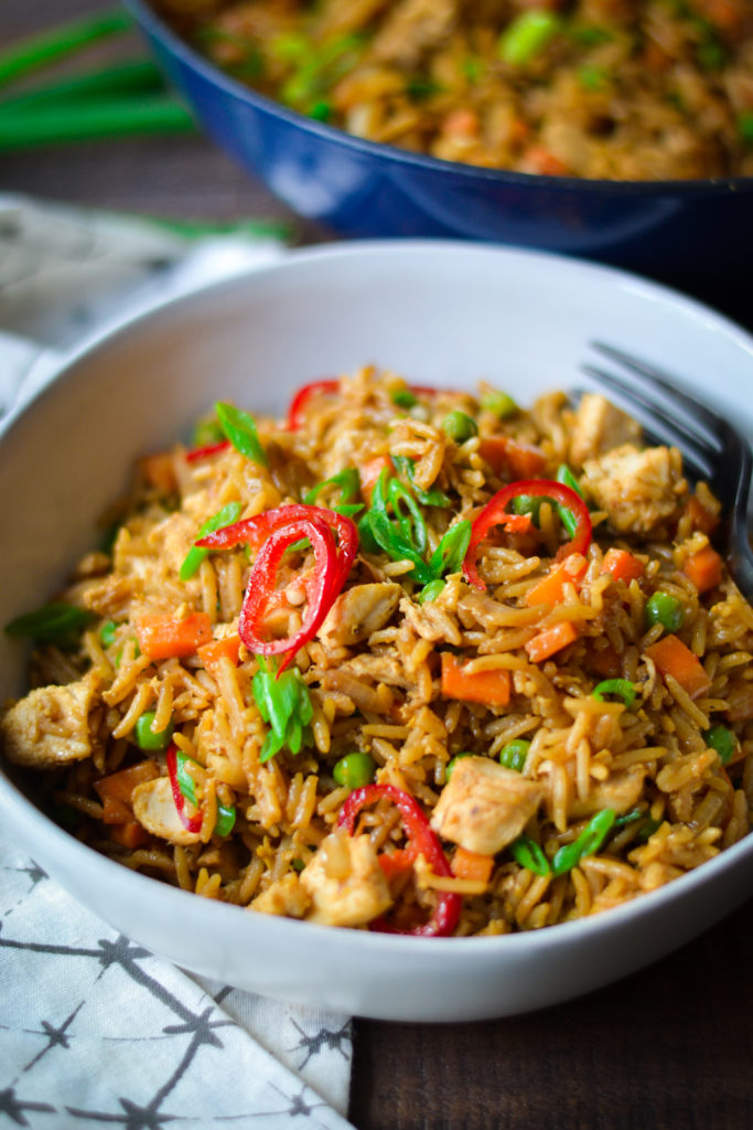Leftover turkey or chicken fried rice - Alicas pepperpot