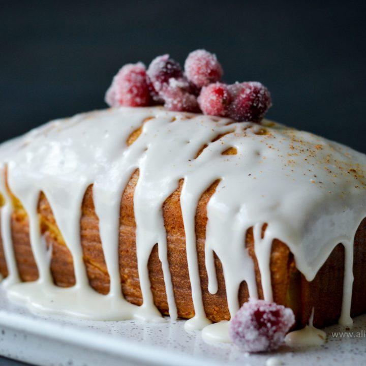 Eggnog Pound Cake - Alica's Pepperpot