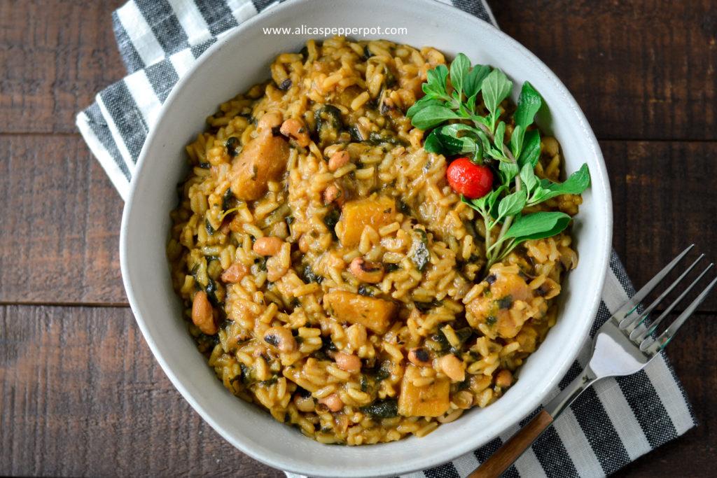 Black-eyed peas cookup rice
