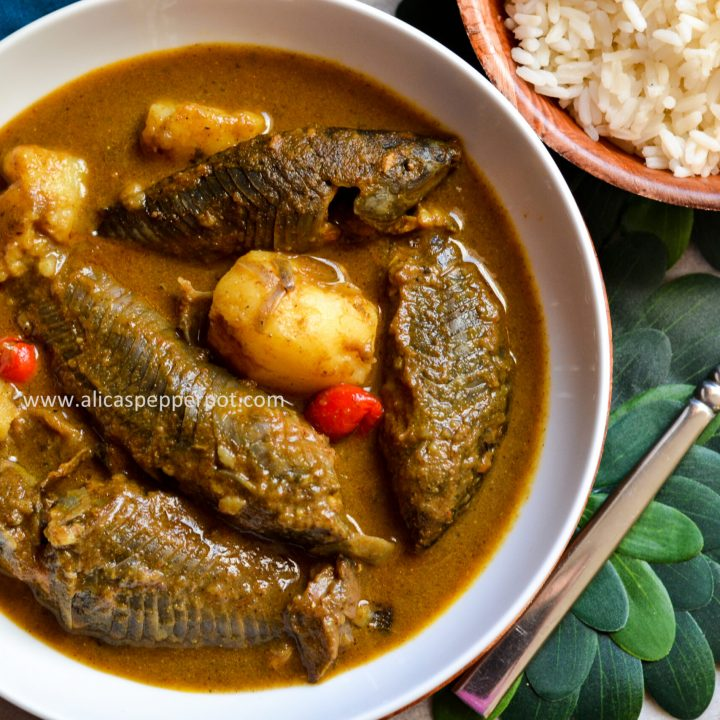 Hassar curry (armor catfish) - Alica's Pepperpot