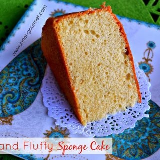 A Light and Fluffy Sponge Cake